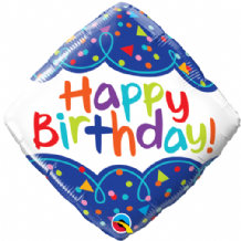 "Birthday Scribble Confetti Foil Balloon (18"") 1pc"
